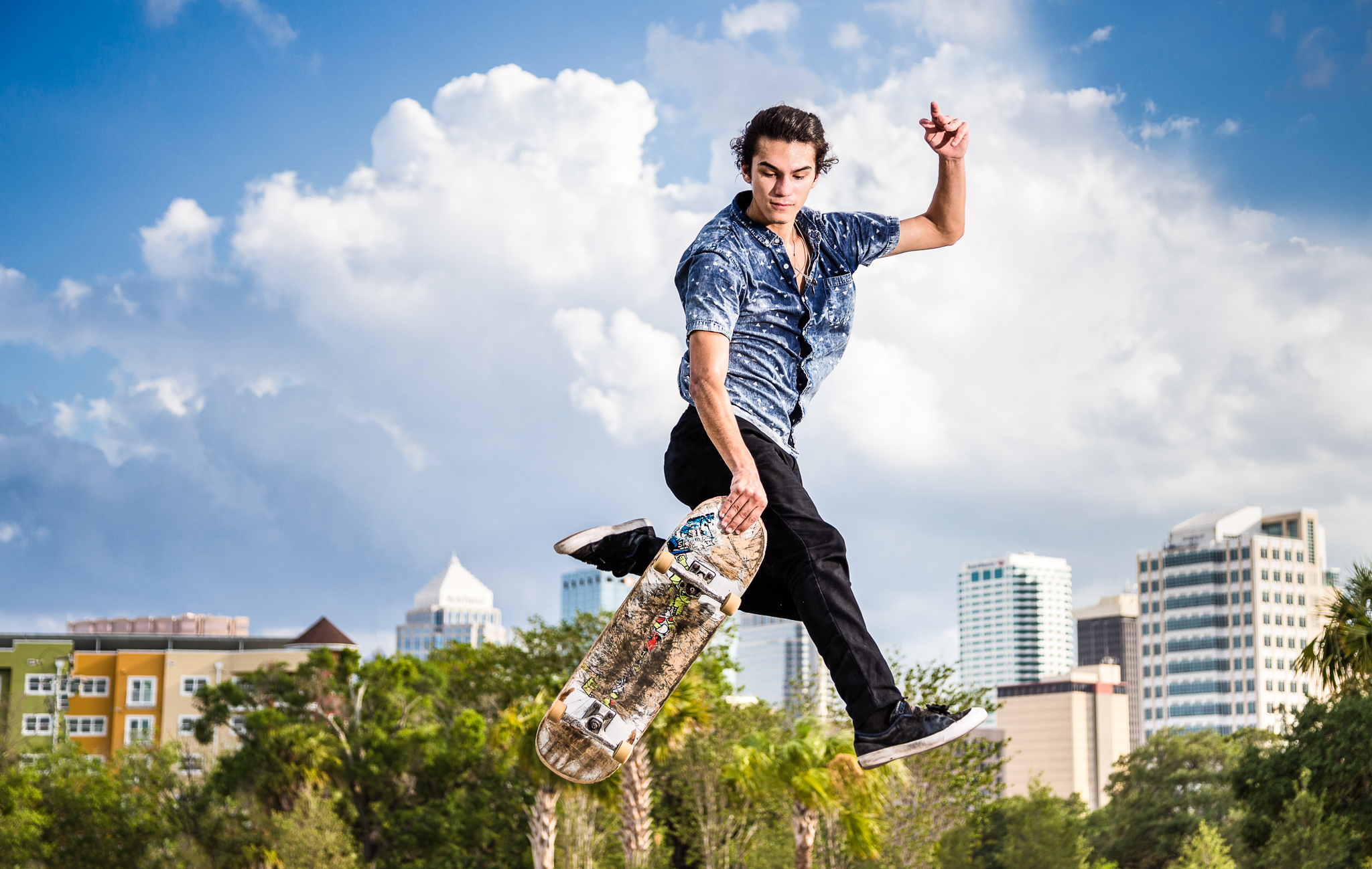Skateboard Trick at Bro Bowl Tampa by Austin Robles